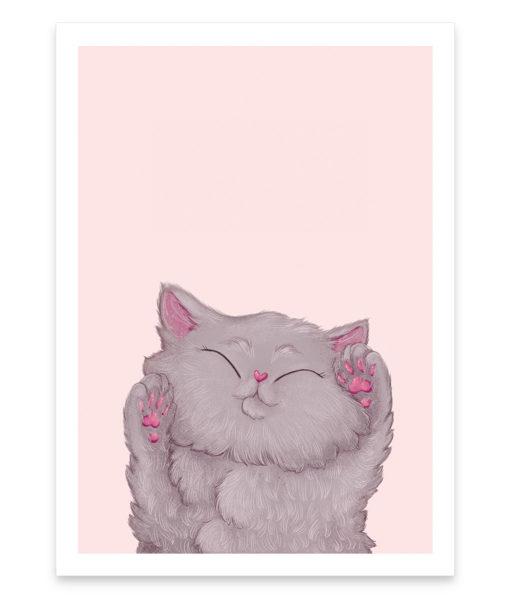 Une affiche d'une adorable petit chaton qui vous fera ronronner de bonheur