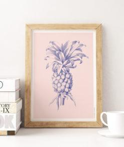 mockup-tropical-ananas-vintage-rose--onthewallagain