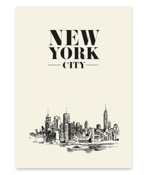 Une illustration originale mettant à l'honneur la célèbre ville de New York
