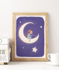 mock-up-kids-little-girl-onthe-moon-personnalisation-onthewallagain