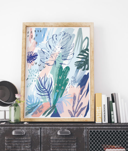 mock-up-tropical-abstract-cactus-onthewallagain