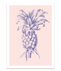 Ananas, une affiche vintage et tropicale, la tendance déco du moment