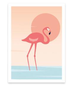 Flamingo beach un superbe flamand rose pour sublimer votre mur
