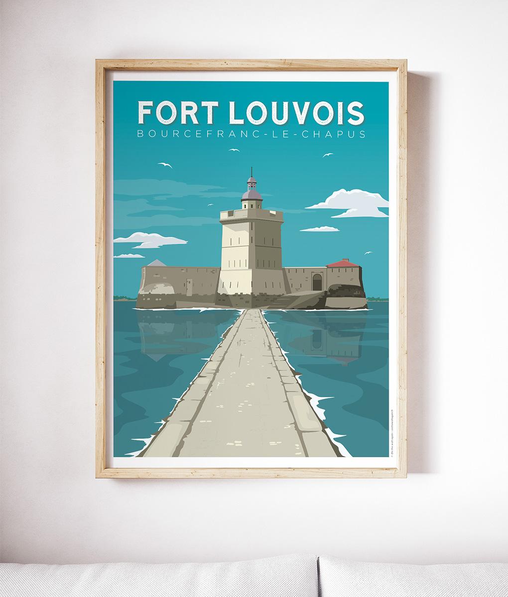 Une affiche vintage du Fort Louvois à Bourcefranc-Le Chapus