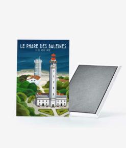 Un magnet vintage du très célèbre phare des baleines sur l'île de ré