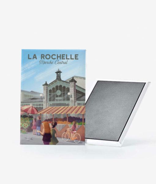 Un magnet vintage du marché central de la Rochelle