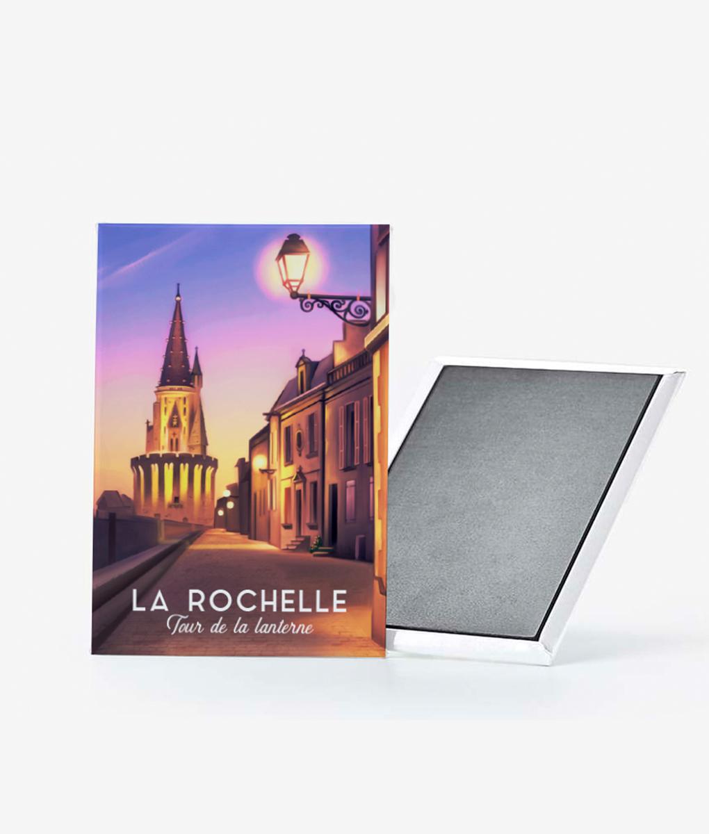 Un magnet vintage de la tour de la lanterne de La Rochelle
